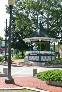 The gazebo at the Milford Oval provides a stage for performers during festivals, band performances and other events.