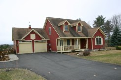 Beautiful Mountain Views from Contemporary Cape on over 17 Acres.